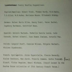 Список бродского к прочтению